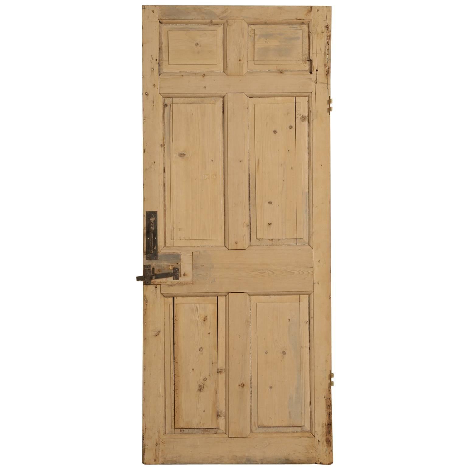 Antique Irish Scrubbed Pine Interior Door For Sale  sc 1 st  1stDibs & Antique Irish Scrubbed Pine Interior Door For Sale at 1stdibs