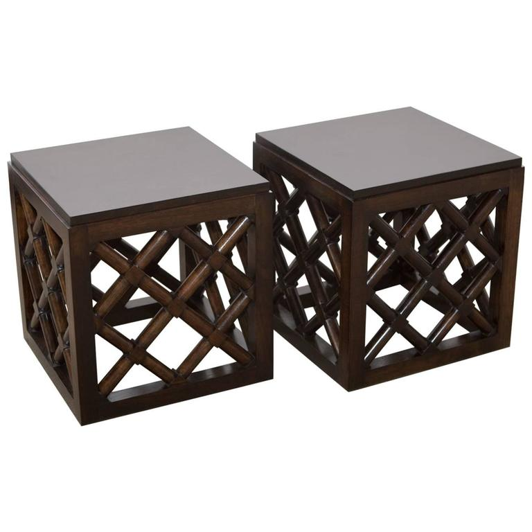 Pair of Mid-Century Accent Tables 1
