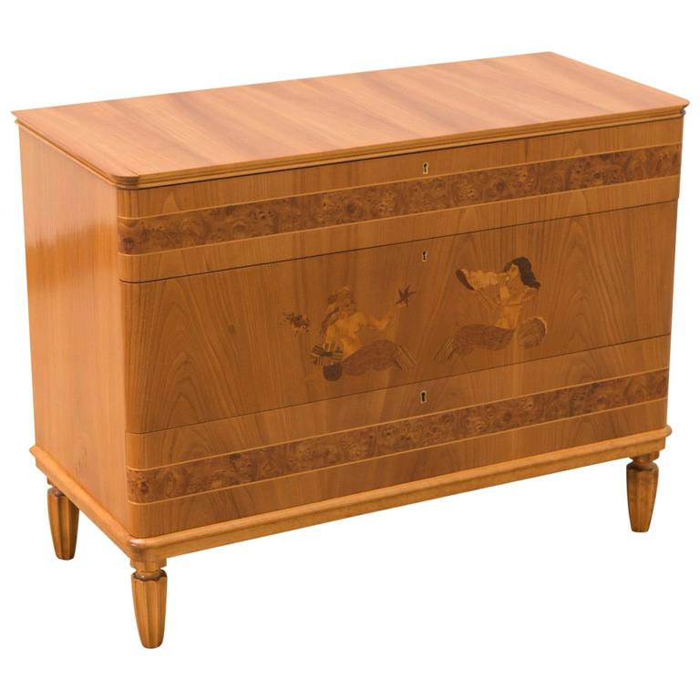 Art Deco Danish Three-Drawer Commode