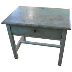English Original Painted Green Table