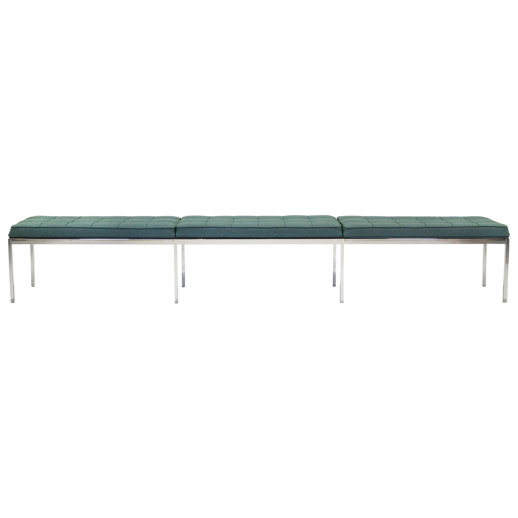 Florence Knoll Long Upholstered Bench At 1stdibs