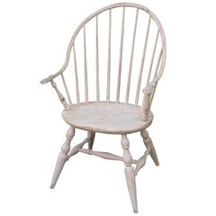 Early 19th Century Painted Extended Arm Windsor Chair