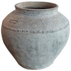 Antique Grey Terra Cotta Jar