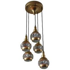 Italian Midcentury Chandelier Attributed to O'luce