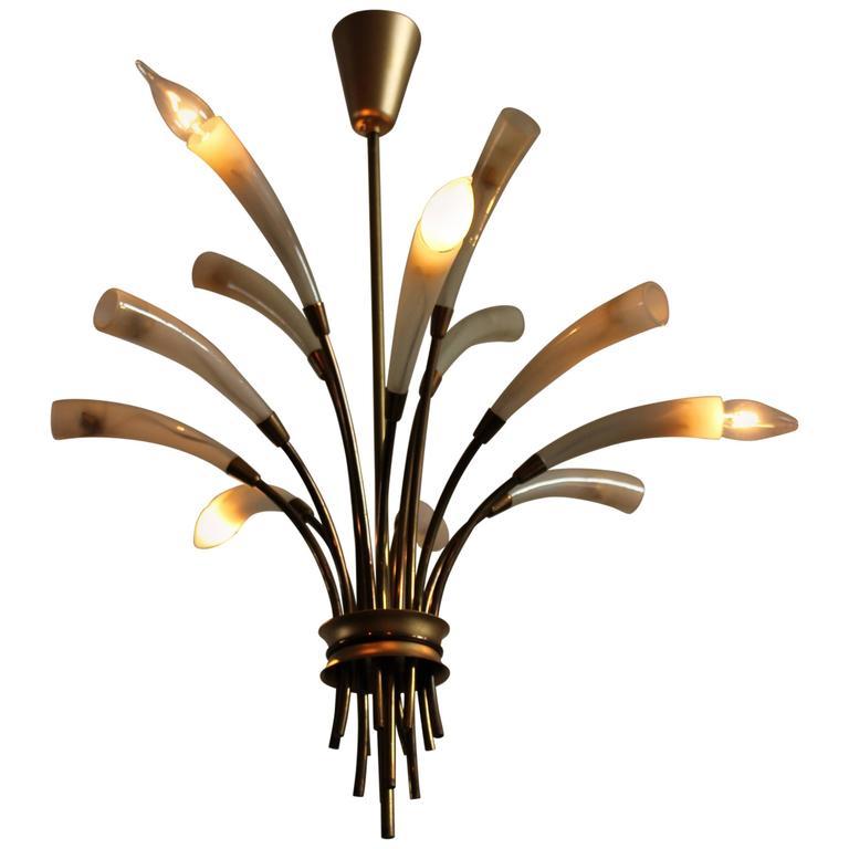 chandelier after max ingrand fontana arte 1950 for sale at 1stdibs. Black Bedroom Furniture Sets. Home Design Ideas