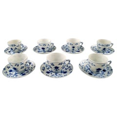Bing & Grondahl/B & G Butterfly, Seven Sets of Espresso/Mocha Cups and Saucers