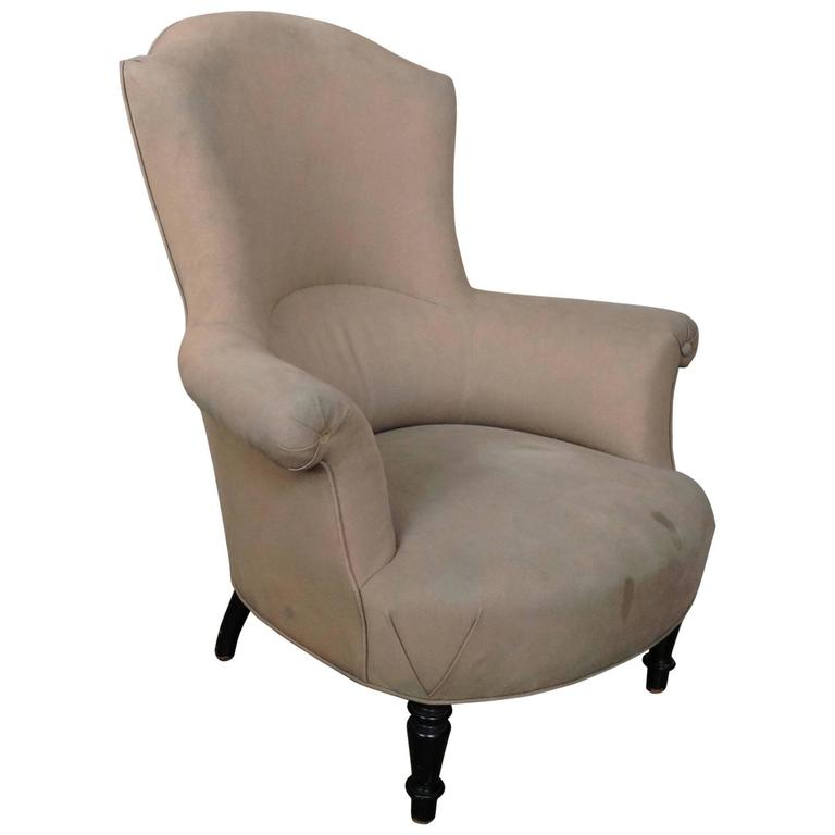 High Back French Armchair