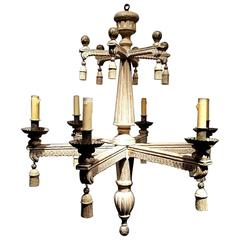 Neocalssical Style Wooden Chandelier