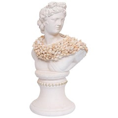 Shell Encrusted Composition Bust