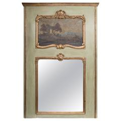 Late 18th Century French Green Painted Trumeau