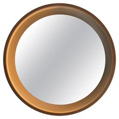 1970s Large Lighted Round Mirror