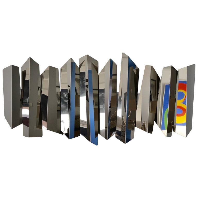 Large Wall Lighted Sculpture by Torregiani