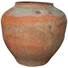 Antique Orange Terracotta Jar