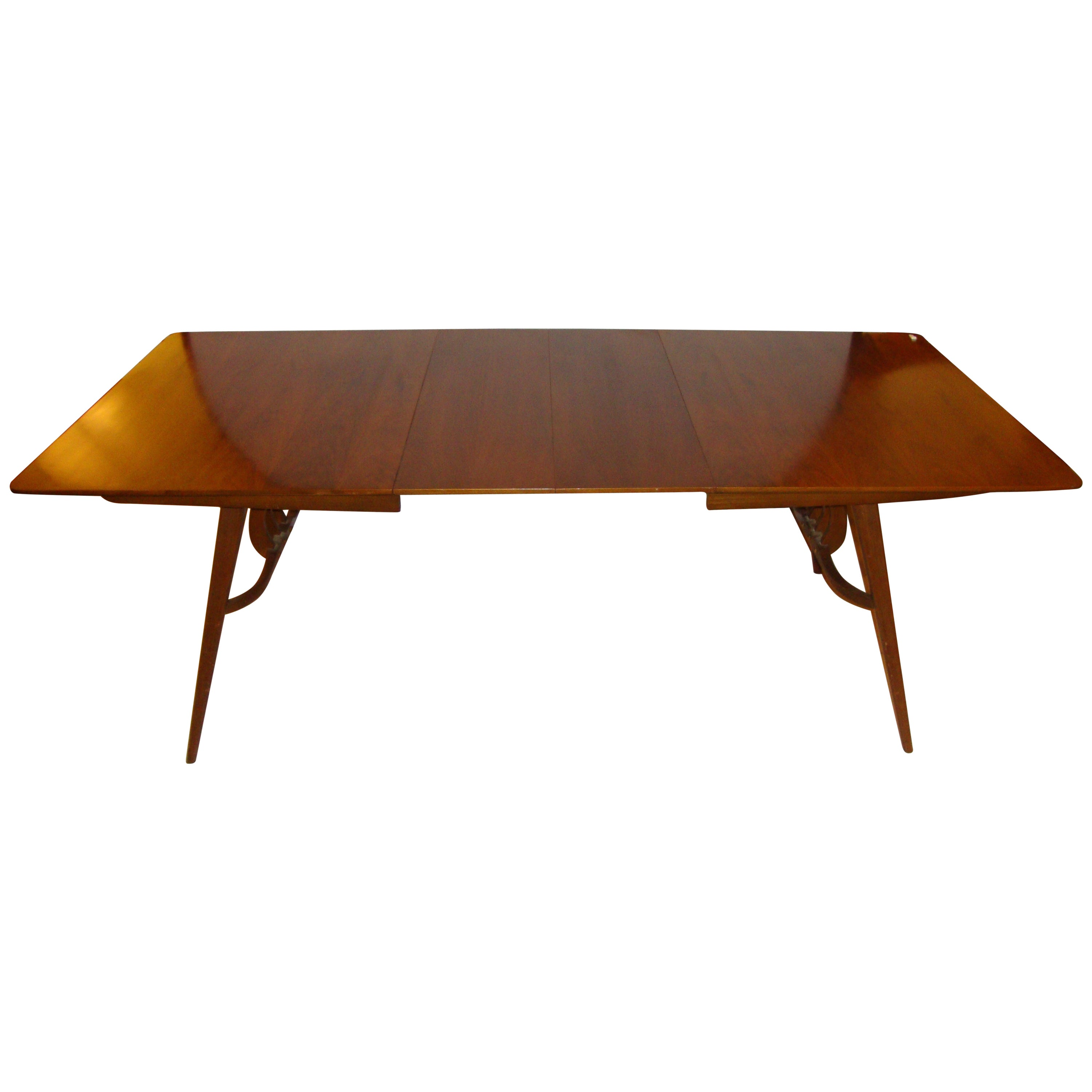Gorgeous Danish Modern Teak Dining Table with 2 Hide-Away Leaves Mid ...