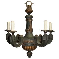 Antique Chandelier, Painted and Giltwood