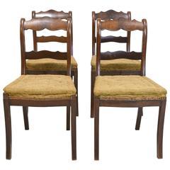 Set of Four North German Biedermeier Side Chairs in Mahogany, circa 1835