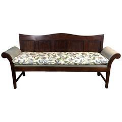 18th Century English George III Period Panel-Back Bench