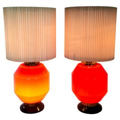 Pair of Table Lamps by Stilnovo, 1950s