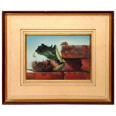 Shiro Nukina 'Chestnut & Bricks' Oil on Canvas