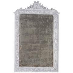 Antique French Painted, Carved Timber Louis Philippe Mirror, circa 1890