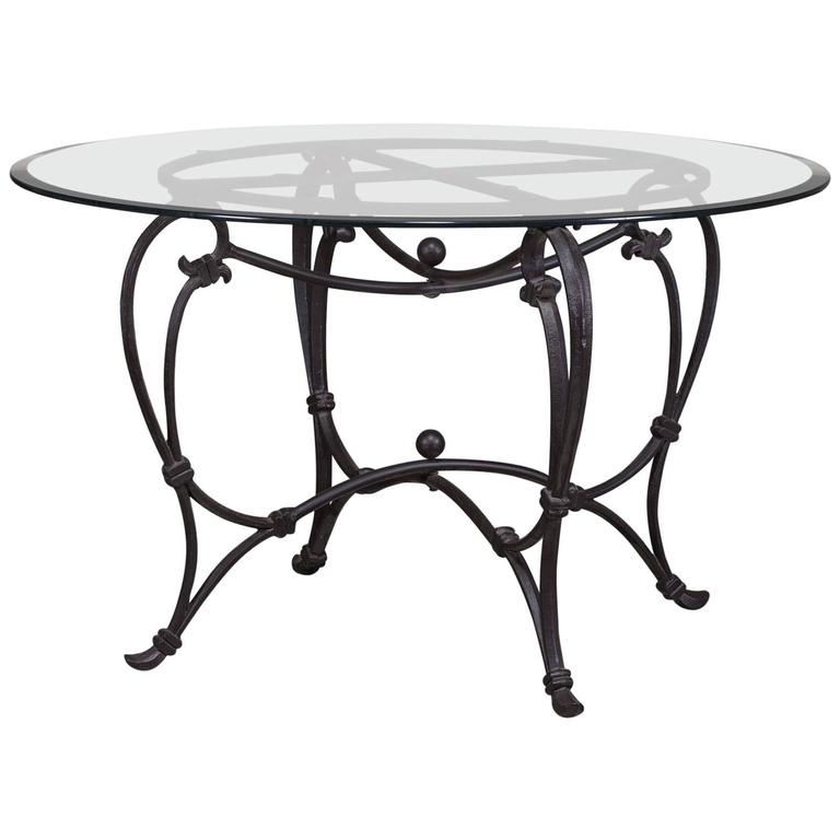 Classic French Iron Dining Table Base, circa 1900 For Sale ...
