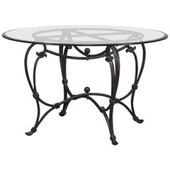 Classic French Iron Table Base, circa 1900