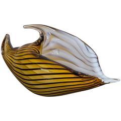 Vintage Venetian Art Glass Sea Shell, circa 1940