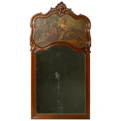 19th Century Louis XV Trumeau Mirror