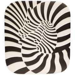 Victor Vasarely Op Art Plaque for Rosenthal