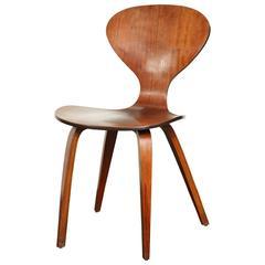 Mid-Century Walnut Side Chair Attributed to Arnie Jacobsen