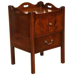 Early 19th Century English, Mahogany Bed Side Table