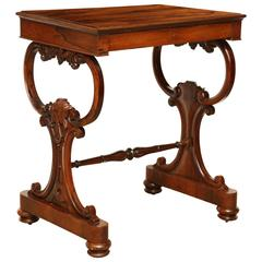 Mid-19th Century English Worktable with Fitted Drawer
