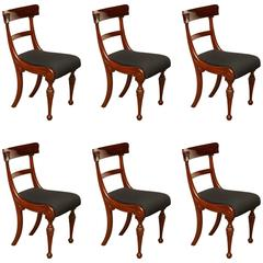 Set of Six Early 19th Century Irish Dining Chairs in Mahogany