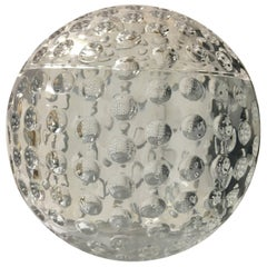 Spherical Lucite Ice Bucket Resembles a Large Golf Ball