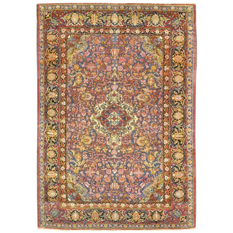 Antique Pserian Isfahan Rug For Sale At 1stdibs