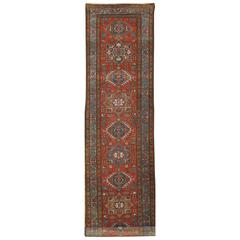 Antique Persian Heriz Runner Rug
