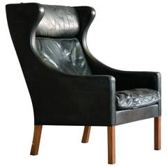 Børge Mogensen Wingback Chair Model 2204 for Fredericia