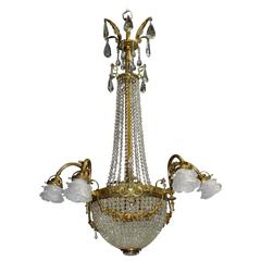 Antique Chandelier, Basket Style
