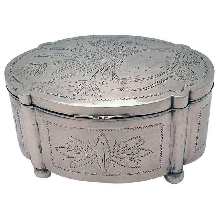 Polish Silver Etrog Box