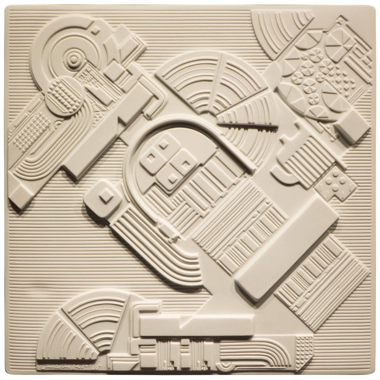 Eduardo Paolozzi Plaque for Rosenthal For Sale