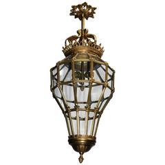 White lantern chandelier for sale at 1stdibs antique chandelier lantern mozeypictures Images