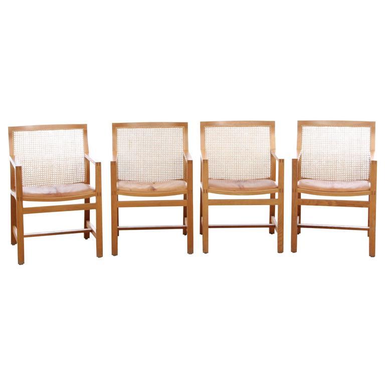 Mid-Century Modern Set of Four Armchairs by Thygesen & Sorensen