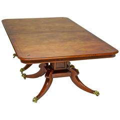 English Regency Dining Table with Two Leaves