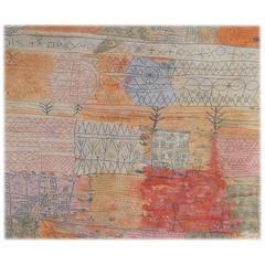 "Large Wool EGE Area Rug, Paul Klee Design, 1926 ""Florentinisches Villenviertel"""