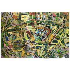 Aerial Painting of Heathrow Airport by New York City Artist Clintel Steed, 2010