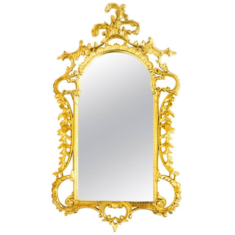 Superb decorative italian giltwood decorative mirror for for Fancy mirrors for sale