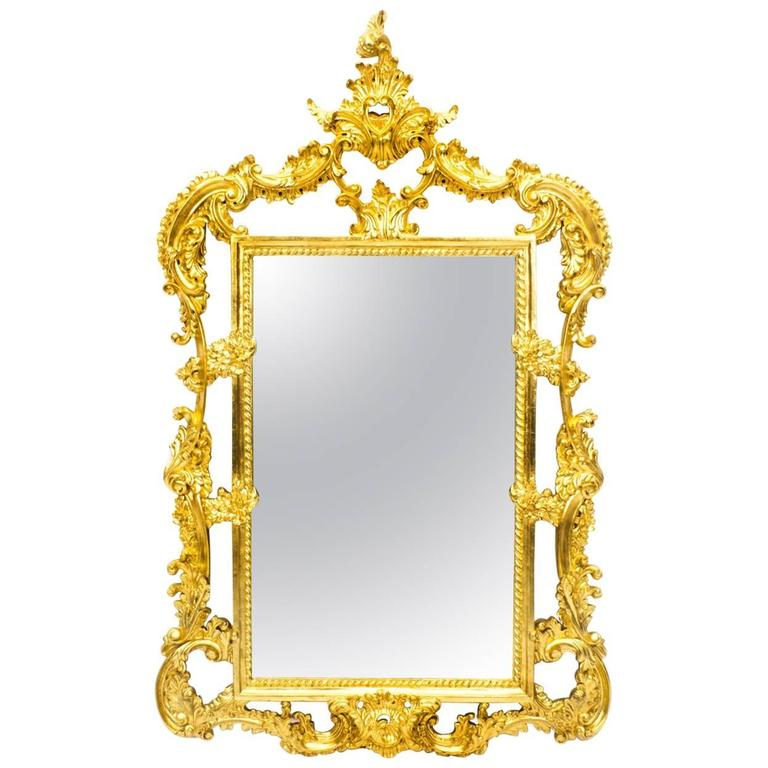 Decorative french carved giltwood mirror at 1stdibs for Decorative floor length mirrors