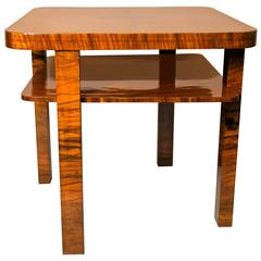 Art Deco Burr Walnut Centre Table, Austria, circa 1930