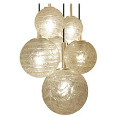 Large Doria Glass Globes Chandelier
