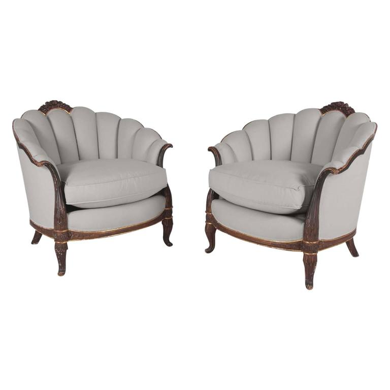 Beautiful Pair of 1925 French Armchairs Designed by Maurice Dufrène
